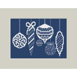 Christmas card with Christmas bauble - Cross Stitch pattern