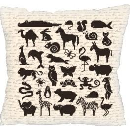 Pillow - zoo - Cross Stitch pattern