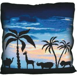 Pillow - Welcome to Africa - Cross Stitch pattern