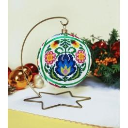 Cross stitch pattern - Christmas ball - ethnic