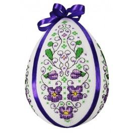 Cross stitch pattern - Easter egg with violets