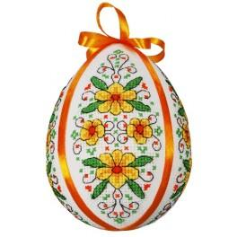 Cross stitch pattern - Easter egg with kingcups