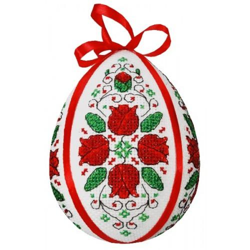GU 8593 Easter egg with tulips - Cross Stitch pattern