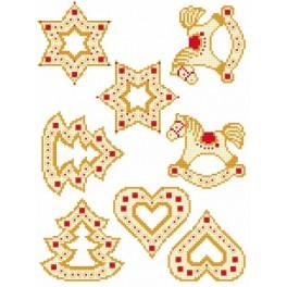 GU 8618 Cross stitch pattern - Christmas pendants