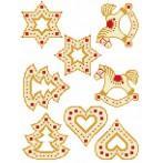 Cross stitch pattern - Christmas pendants