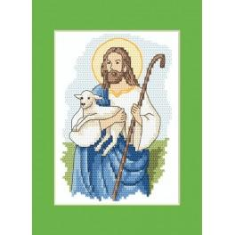 Easter postcard - Christ - Cross Stitch pattern