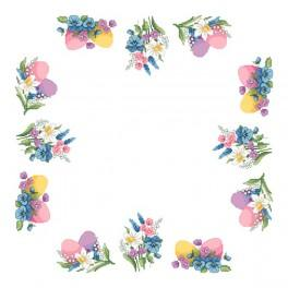 Napkin - Spring accents - Cross Stitch pattern