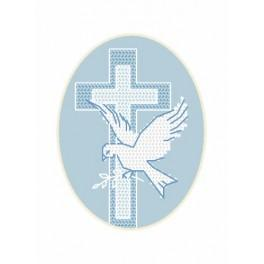 GU 8630-02 Card - Dove - Cross Stitch pattern