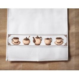 Dishcloth - Coffee set - Cross Stitch pattern