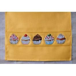 Dishcloth - Muffins - Cross Stitch pattern