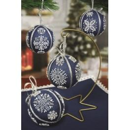 GU 8824 Cross stitch pattern - Christmas balls with snowflakes