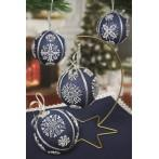 Cross stitch pattern - Christmas balls with snowflakes