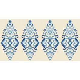 GU 8833 Cross stitch pattern - Easter egg - blue arabesque