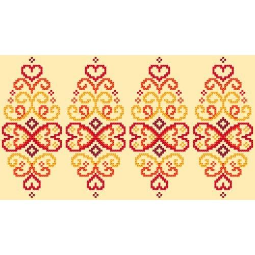 GU 8834 Cross stitch pattern - Easter egg - red arabesque