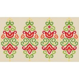 Cross stitch pattern - Easter egg - colourful arabesque