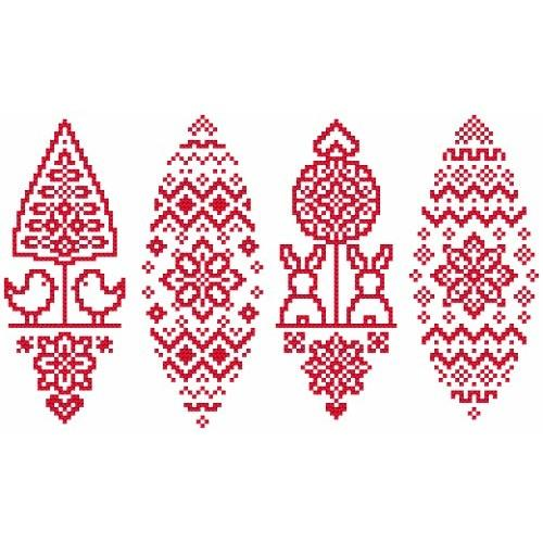 GU 8837 Cross stitch pattern - Folk easter egg