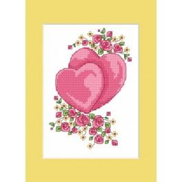 Online pattern - Wedding card - Hearts