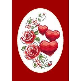 W 4996-01 Online pattern - Greeting card - Best wishes