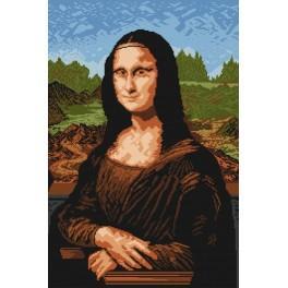 Online pattern - Mona Lisa - Leonardo da Vinci