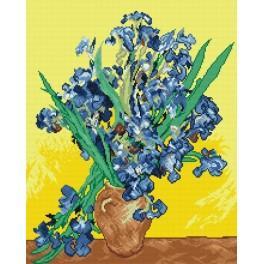 Online pattern - Irises - V. van Gogh