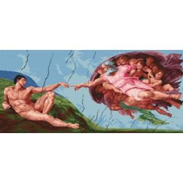 W 735 Online pattern - The Creation of Adam - Michelangelo