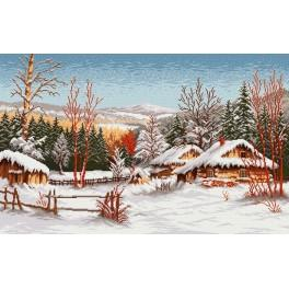 W 744 Online pattern - A Winter Cottage - S. Sikora