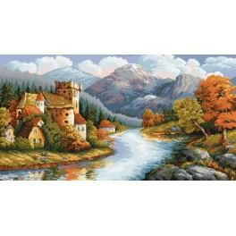 Online pattern - Castle on the riverbank