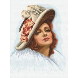 Online pattern - Lady in a hat