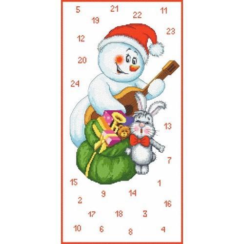 Online pattern - Adwent calendar - Musician snowman