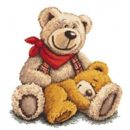 Online pattern - Sleeping teddy