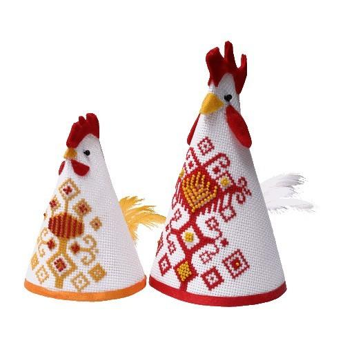 Online pattern - Hen and cock