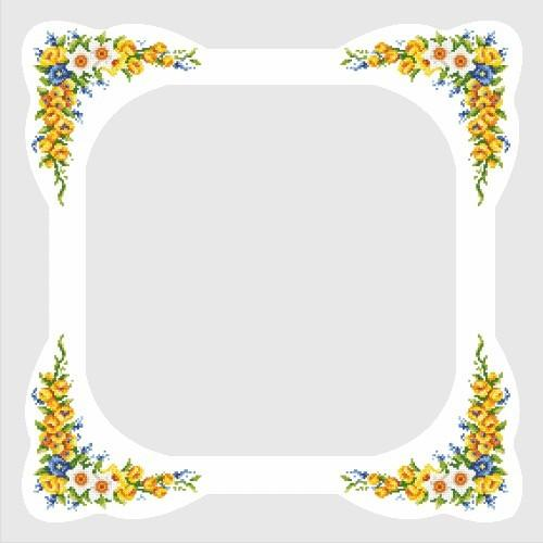 Online pattern - Tablecloth with spring flowers