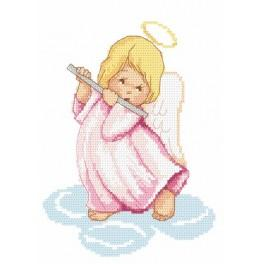 Online pattern - Angel with flutes