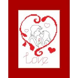Online pattern - Valentine's Day card