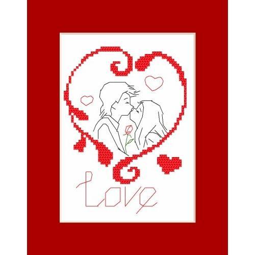 Online pattern - Valentine's Day card