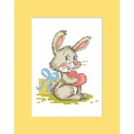 W 8309 Online pattern - Card with bunny