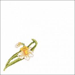 Online pattern - Small narcissus - napkin