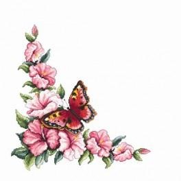 Online pattern - Napkin with butterfly