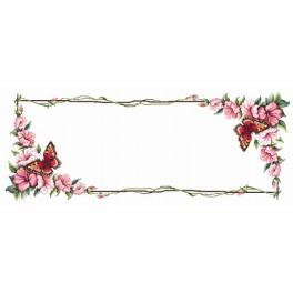W 8329 ONLINE pattern pdf - Table runner with butterfly