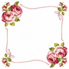 Online pattern - Napkin with roses