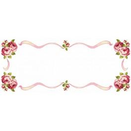W 8349 Online pattern - Table runner with roses