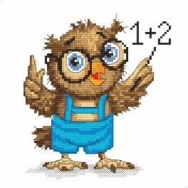 Online pattern - Small owl - mathematician