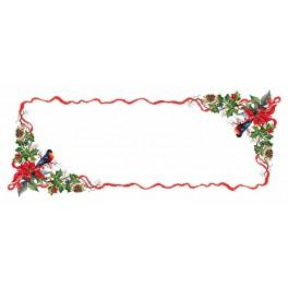 W 8383 ONLINE pattern pdf - Table runner - Christmas evening