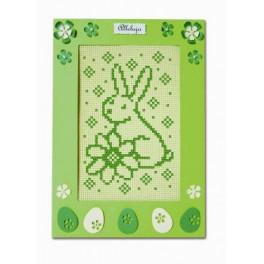 Pattern online - Easter Card - The hare with flower