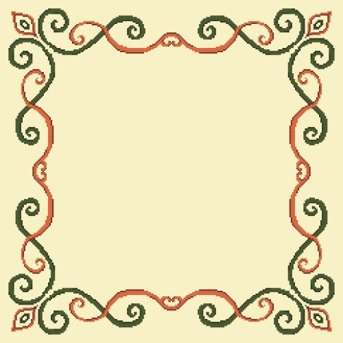 Online pattern - Napkin with arabesque