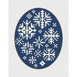 W 8444 Online pattern - Christmas card - Snowflakes