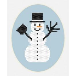 W 8449 Online pattern - Card - Snowman