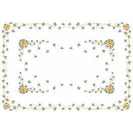 W 8463 Online pattern - Daffodil with Violas