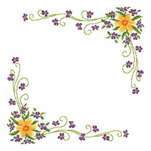 Online pattern - Daffodil with Violas