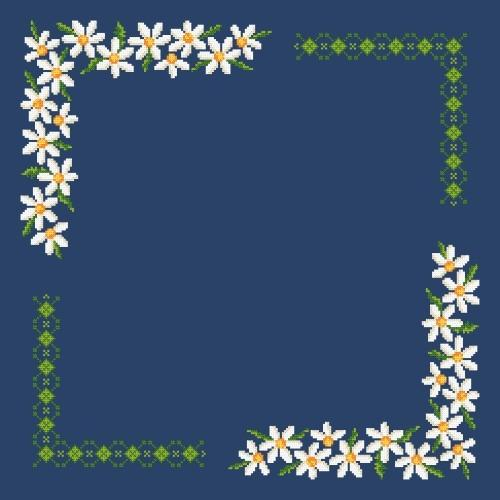 Online pattern - Napkin with oxeye daisy